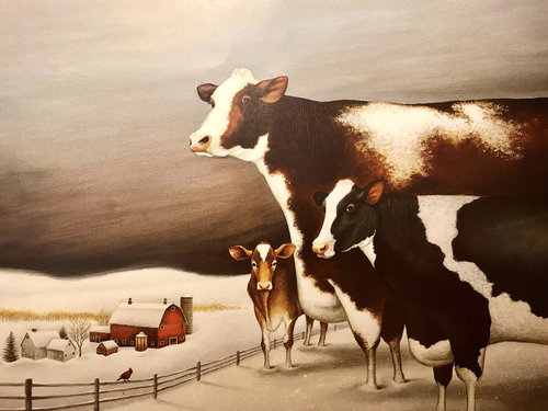 Art Theme: Winter Cows    Writing Theme: Science Fiction