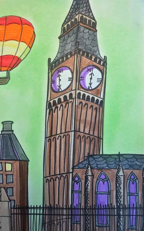 Art Theme: England - Big Ben    Writing Theme: Historical Fiction