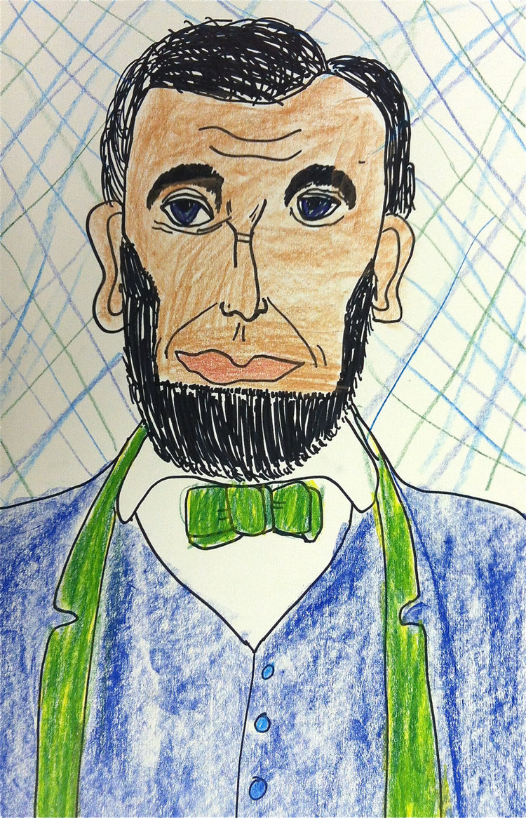 Art Theme:  Abe Lincoln    Writing Theme:  Non Fiction - The penny President