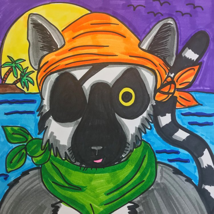 Art Theme: Pirate Lemur    Writing Theme: Creative Story