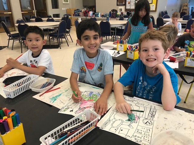 Our gentle, step-by-step method of instruction is  designed to help children bloom creatively while learning the fundamentals of art & writing  in a calm, friendly environment; free of judgment and competition.