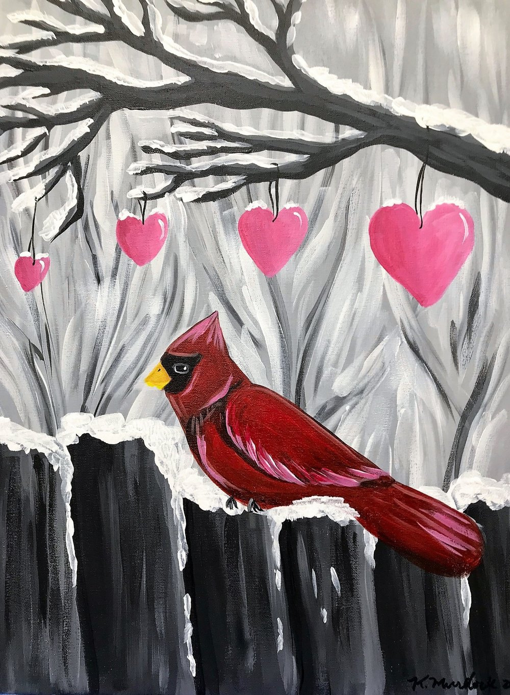 Galentine's Day Cardinal