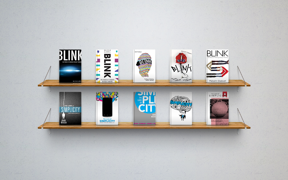Top shelf covers by  Rio Trenaman . Bottom shelf covers by  Emily Johnston .