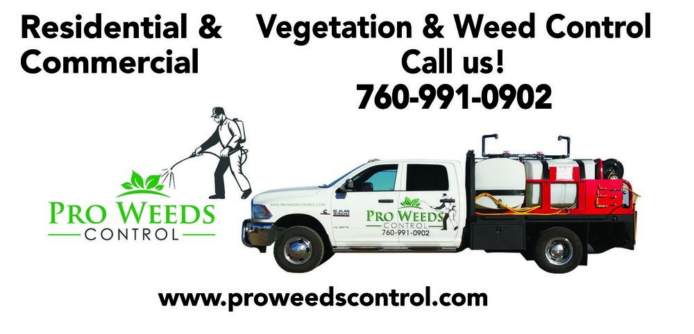 Weed Control Service   Pro Weeds Control, is a fully Licensed and Insured herbicide application company. We can design and implement a custom herbicide program for the individual needs of our customers.  We specialize on residential, commercial and right-of-way weed control.  From wind farms, solar farms, waterways, power line right-of-ways, and railroads to industrial plant and storage sites, we execute effective vegetation management programs. Other bare ground work includes FAA radar sites, electric substations, junkyards, and port facilities.  Whether you own an office building, church, strip mall, or parking lot, the presence of weeds on the property can be a fire hazard or prove detrimental to the area's appearance, Pro Weed Control offers a variety of service to benefit the commercial building owner.   ro Weed Control can help make the homeowner's job easier by using pre-emergent herbicides as well as follow-up post-emergent herbicides to keep the yard weed-free. We take pride in offering a 1-year application in order to ensure that any future problems within the warranty period are our responsibility, not yours. If residential weed control service sound like a good idea or if you have any questions regarding our services, give us a call!    High Desert Weed Control, Oak Hills Weed Control, Hesperia Weed Control, Phelan Weed Control, Apple Valley Weed Control, Victorville Weed Control.