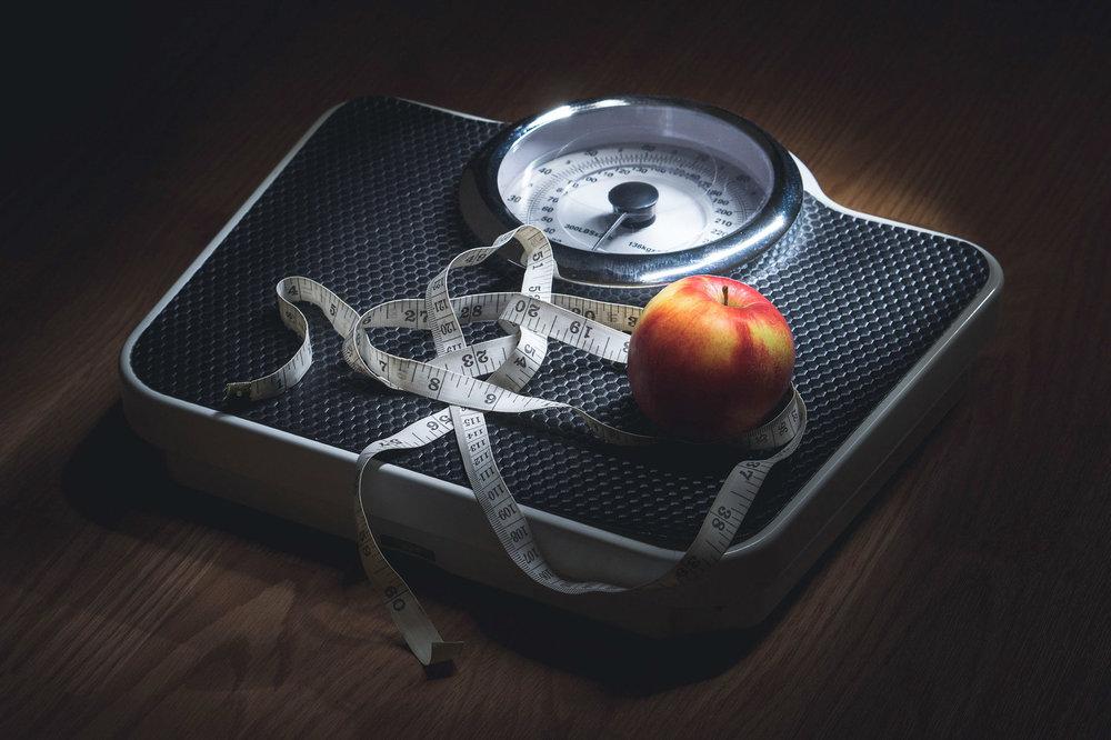 vekt eple målebånd
