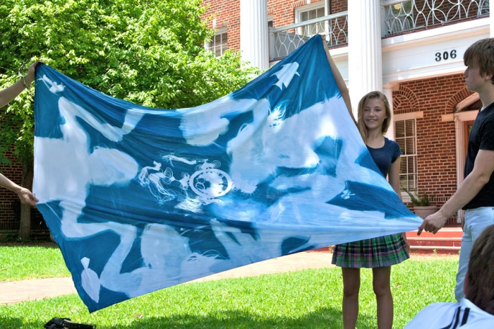 Cyanotype workshop, Kirby Hall School, Austin, TX