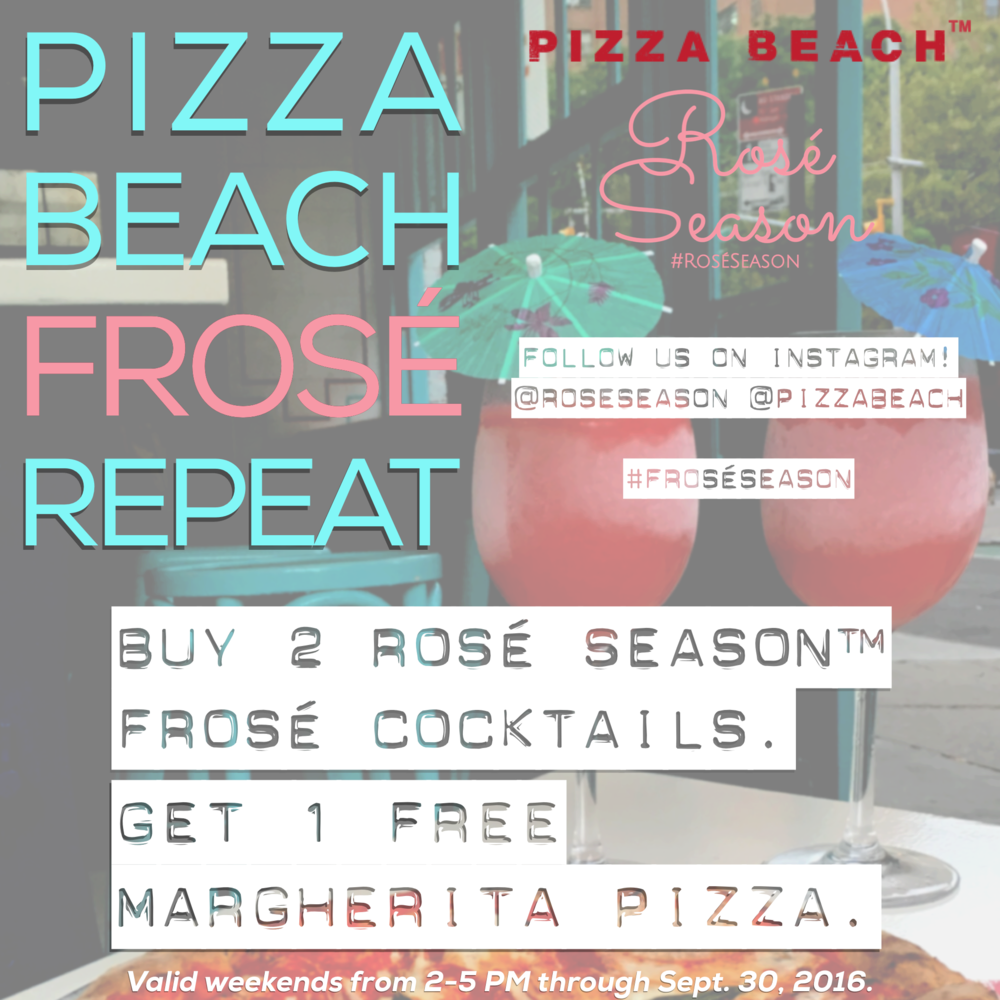 Frosé Season at Pizza Beach