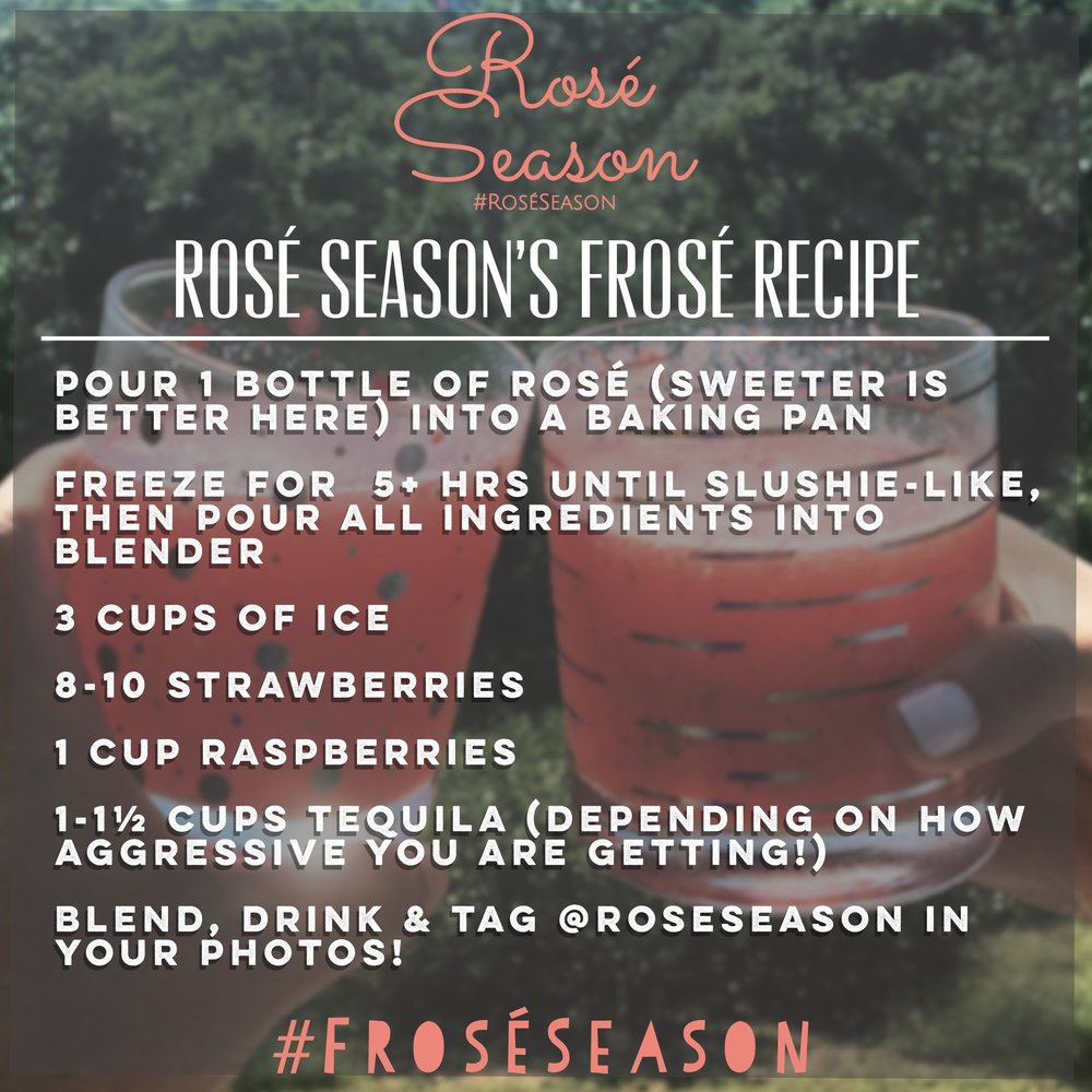 frosé cocktail recipe