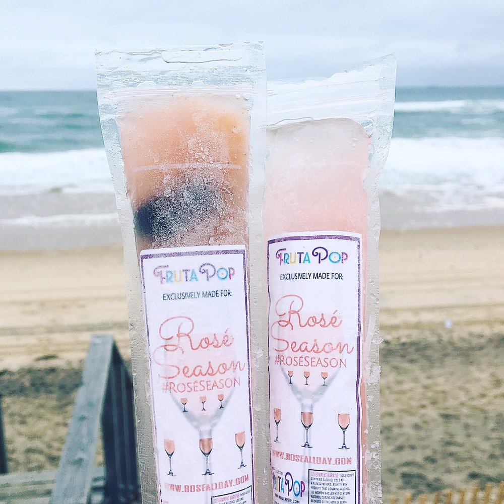 Rosé Season FrutaPop rosé ice pops - as featured in cosmo, seth meyers, travel & leisure, TIME, bustle, popsugar, refinery29 and more