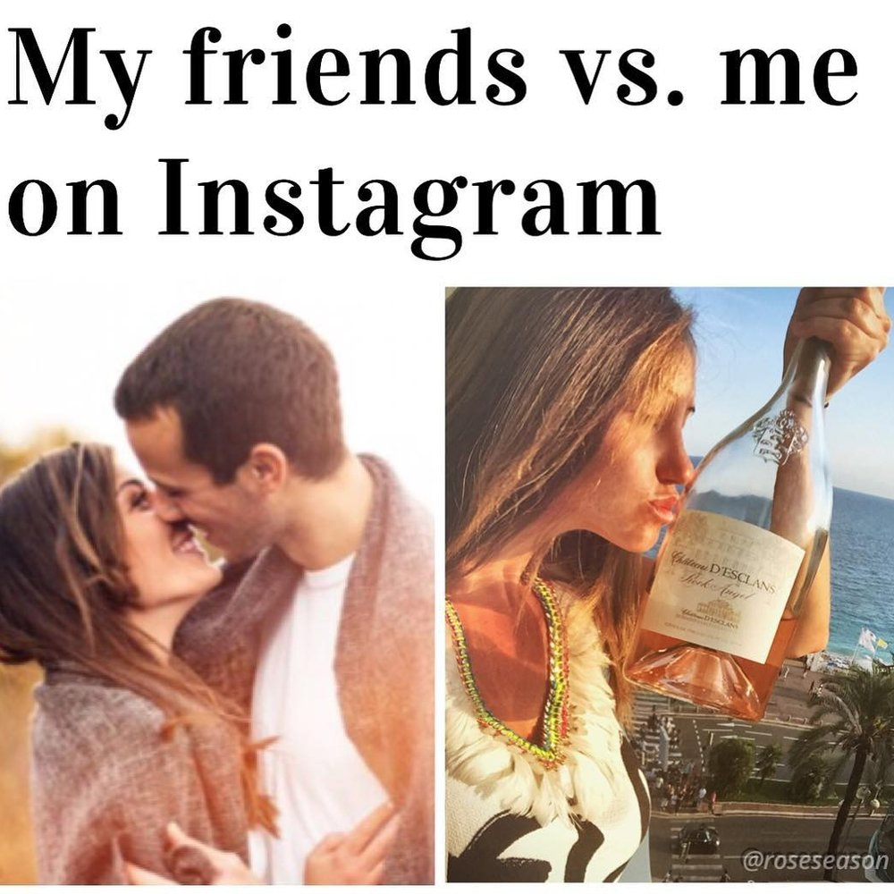 Funny Wine Meme by @roseseason - Rosé Season Influencer Instagram Post