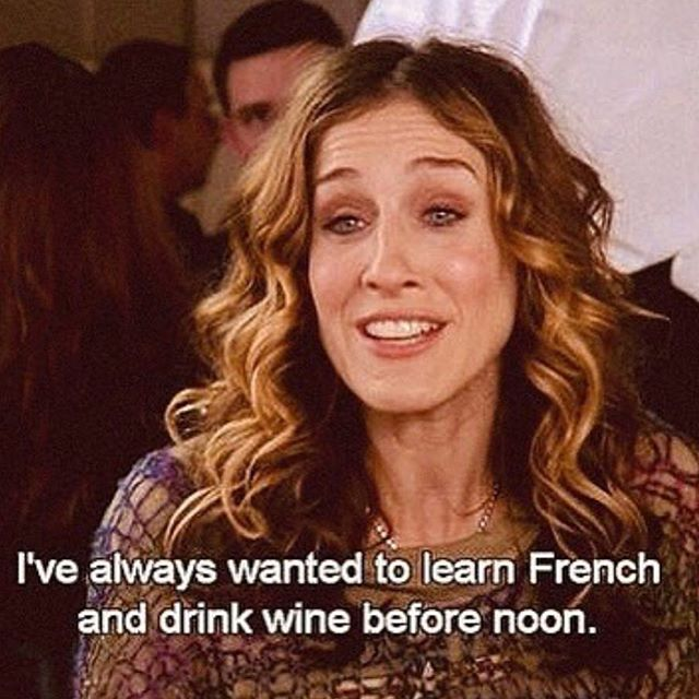 Never lose sight of your goals. @sarahjessicaparker #sexandthecity #goals #roséseason
