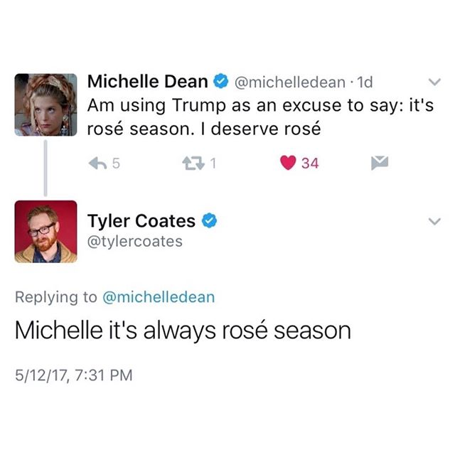 Whatever your reason may be, listen to @tylercoates: it's always Rosé Season. #roséseasonisthebestseason #roséallyear #roséseason 🌹🍷