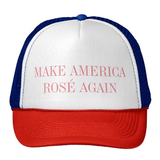make america rose again trucker mesh hat