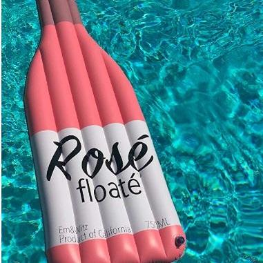 rose wine pool floats
