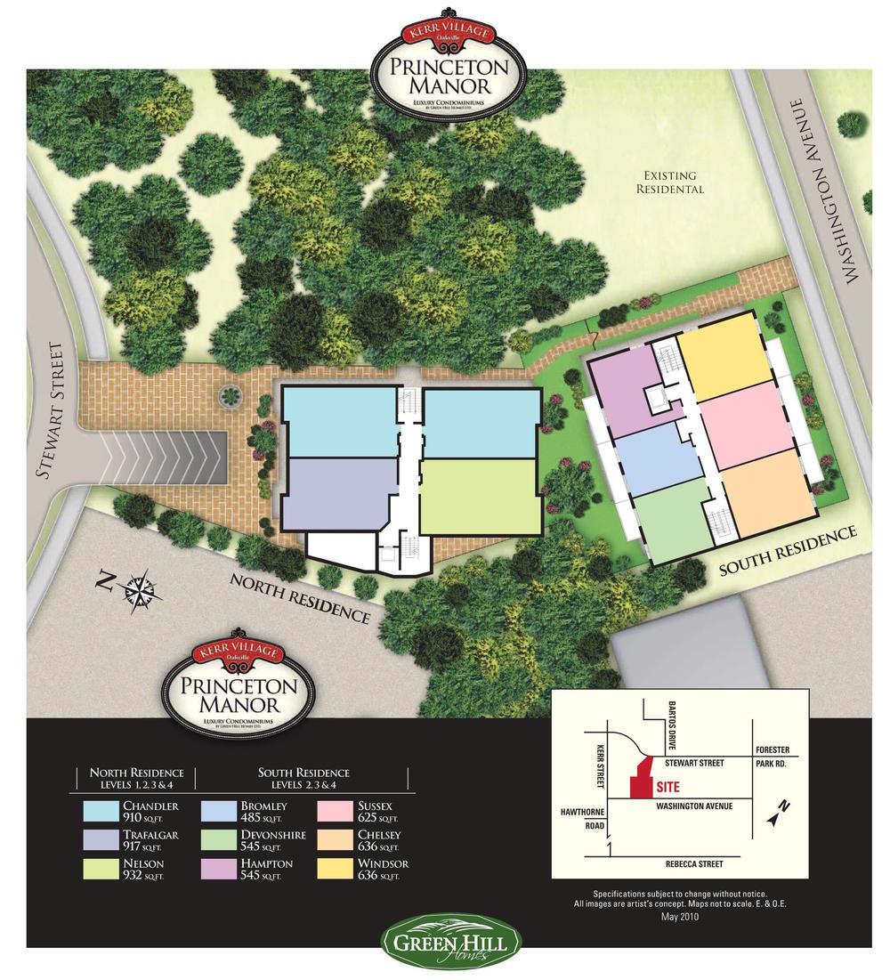 map of princeton manor kerr village oakville properties