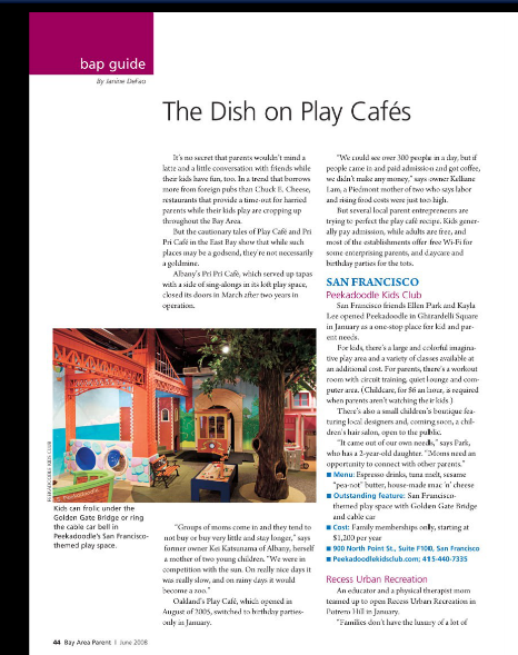 The Dish on Play Cafes