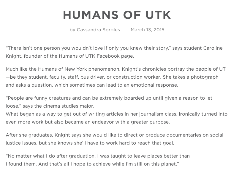 http://torchbearer.utk.edu/2015/03/humans-of-utk/