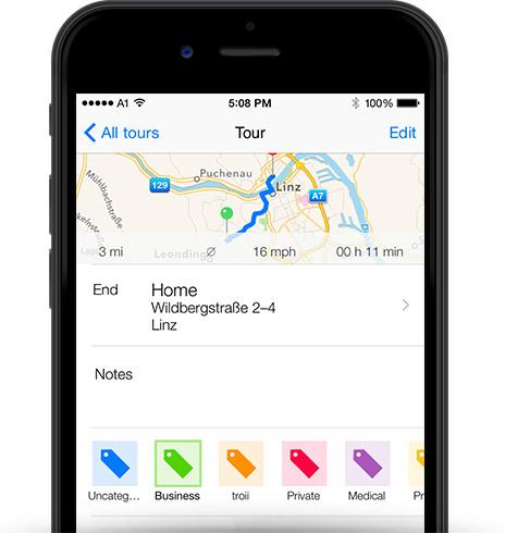 mileage log app tour