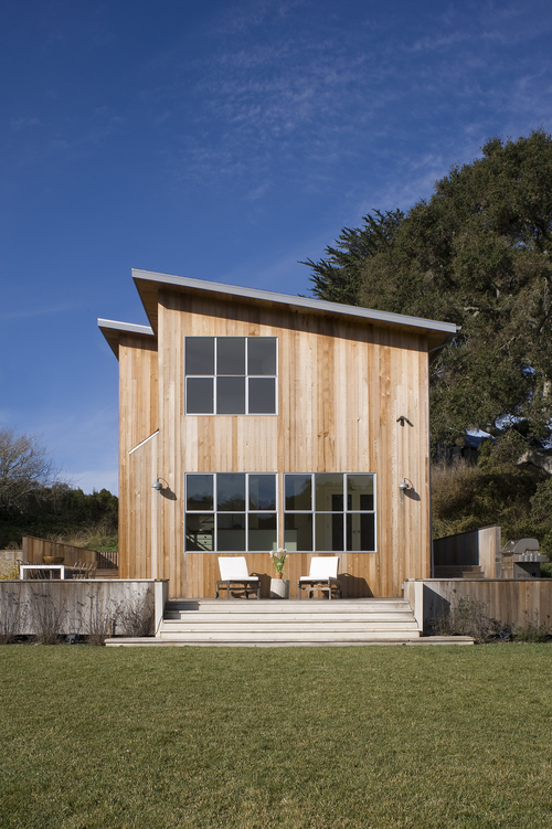 Creekside House San Mateo County California The Simple Shed Roof Natural Wood Siding And