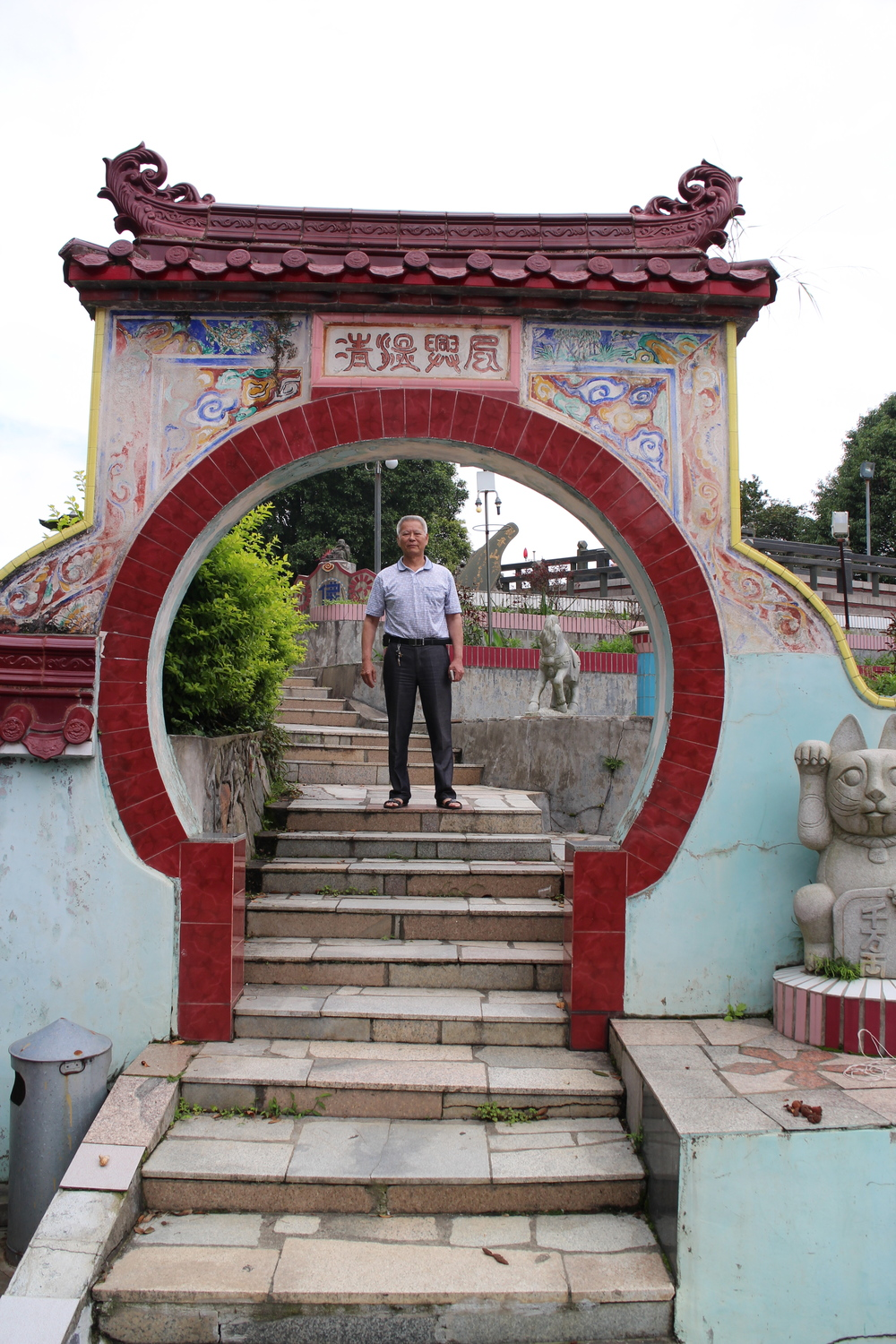 Master Pan Cheng Miao at the temple