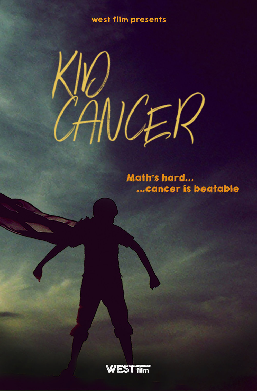 Kid Cancer  - Drama (Feature Length)Written By: Dan SlaterBudget Range: 5MAn 11 year old boy battling Leukemia falls in love and gains the courage to fight his cancer in a cartoon dream world he creates in his imagination.