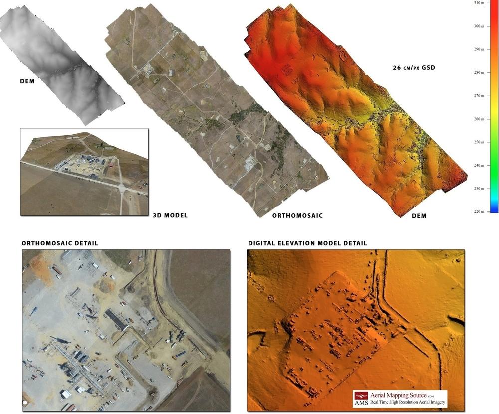 Digital Elevation Models,    Orthomosaics & Topographic Maps