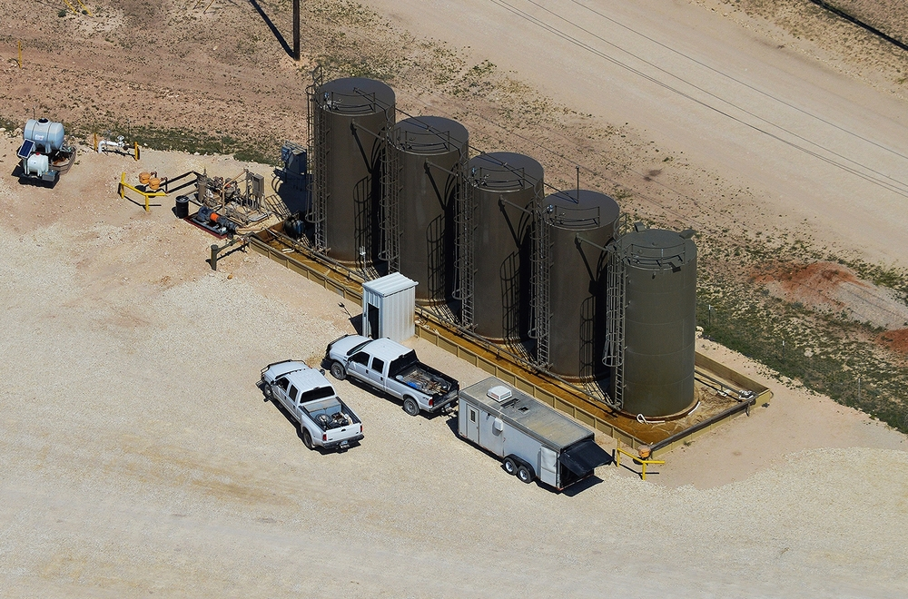 Oil Storage Facility Aerial Photography