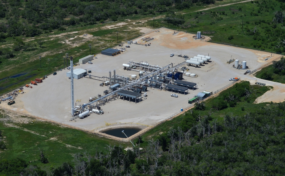 Natural Gas Facilities Aerial Photography