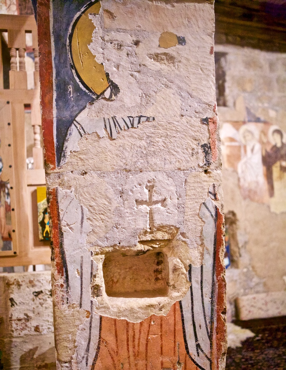 Syriac Catholic Monastery of Saint Moses - Fresco Remains