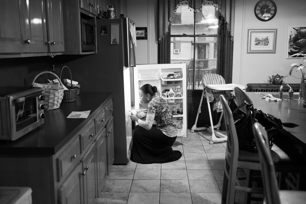 Keila At Her Refrigerator