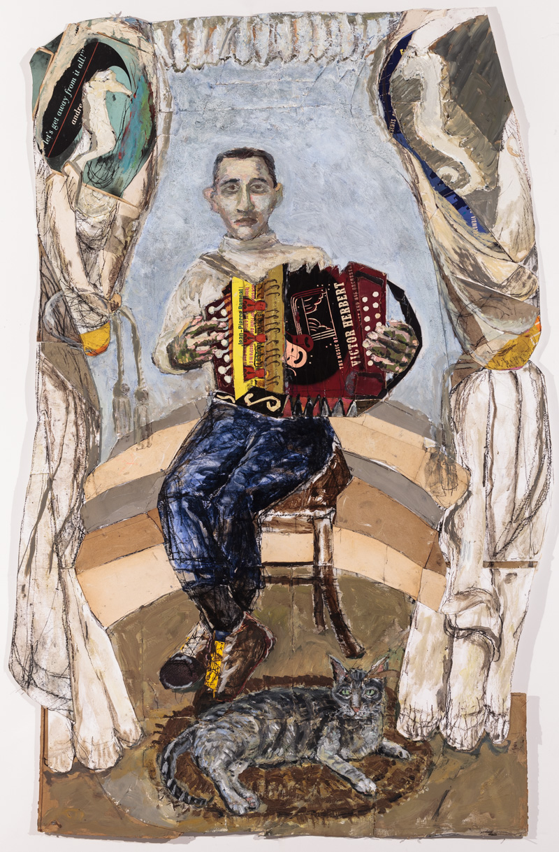 Accordion Player with Cat
