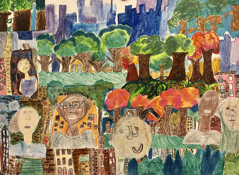 """""""My Friends, My Community and My City"""" by Zadie Lopez, Aaron Scutchings, and Charlotte Toole"""
