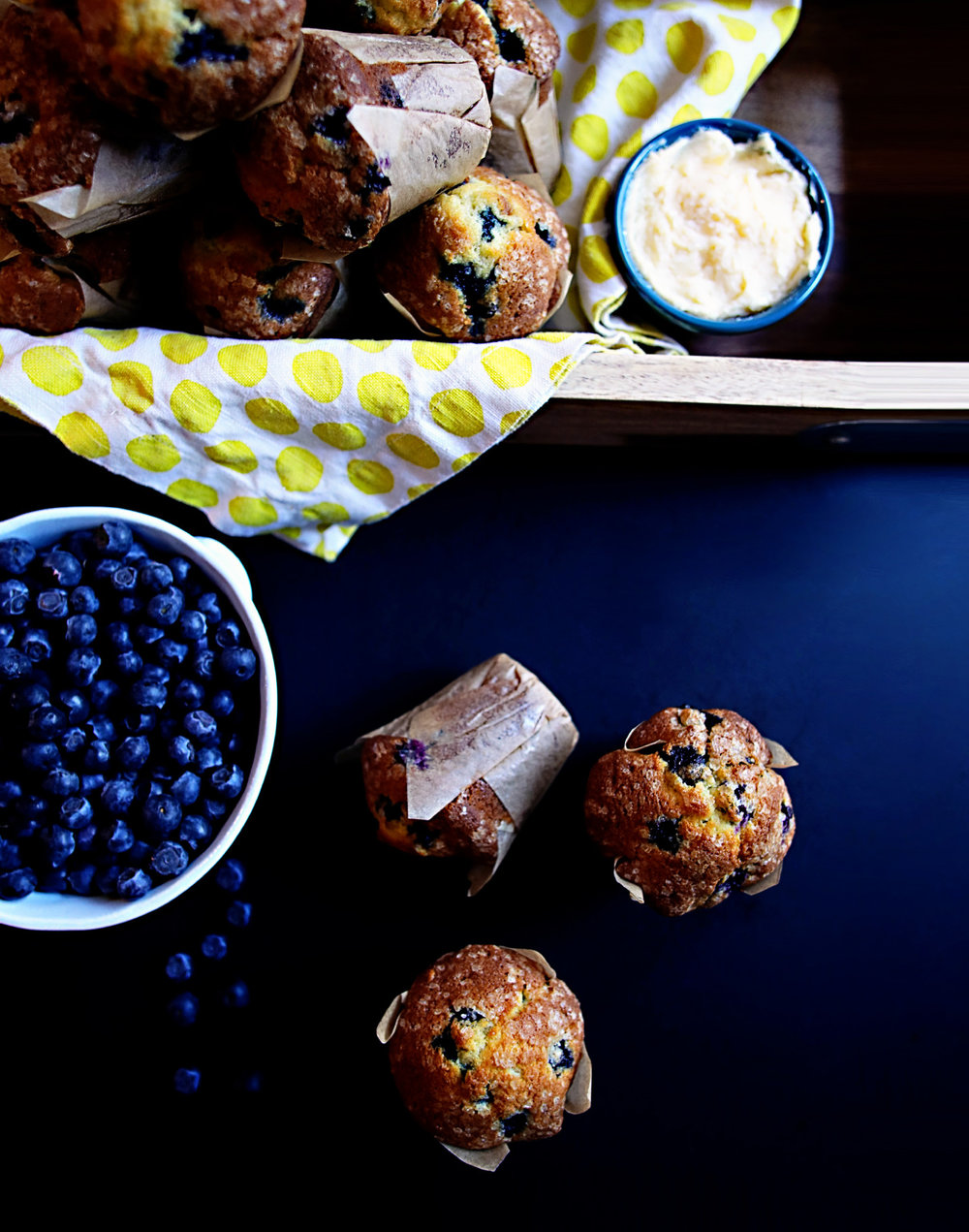 Hammonton Blueberry Muffins with Maple Butter