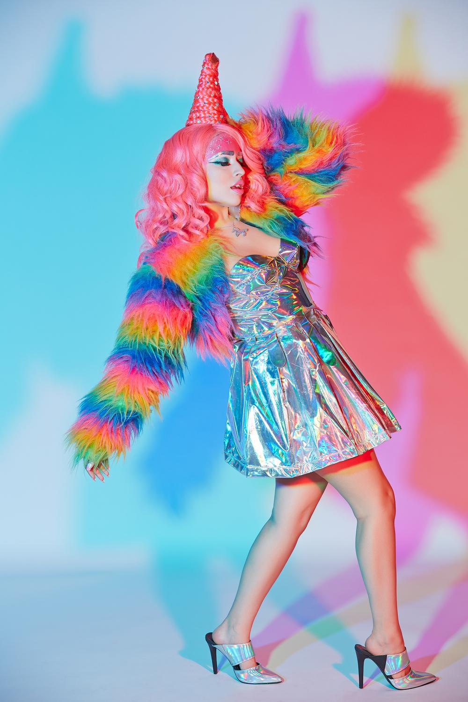 Photography //  John Phan Photography   Hologram Bodice //  Petshops Girl   Hologram Skirt //  Lip Service Cult   HMU // Alexandra Merino