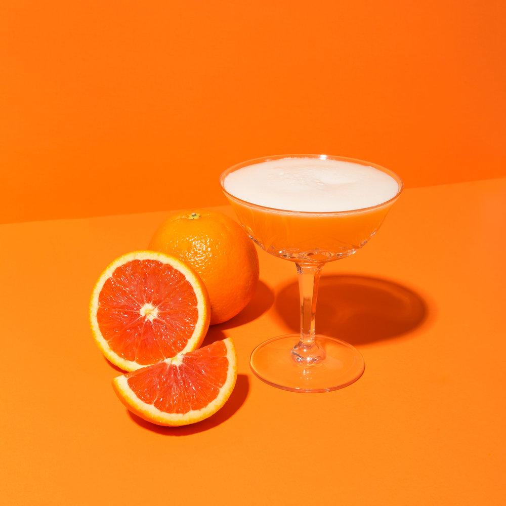 Cara Cara Orange Mezcal Sour -  View Recipe Here
