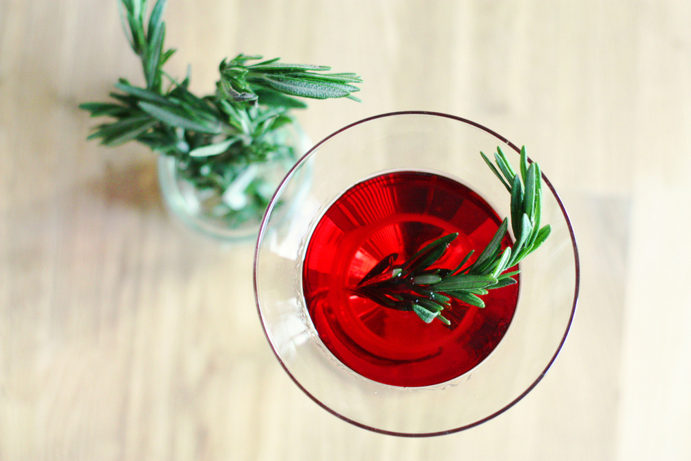 Rosemary Infused Cosmo