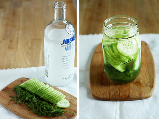 Cucumber-Dill Infused Vodka Ingredients