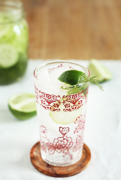 Cucumber-Dill Vodka Soda