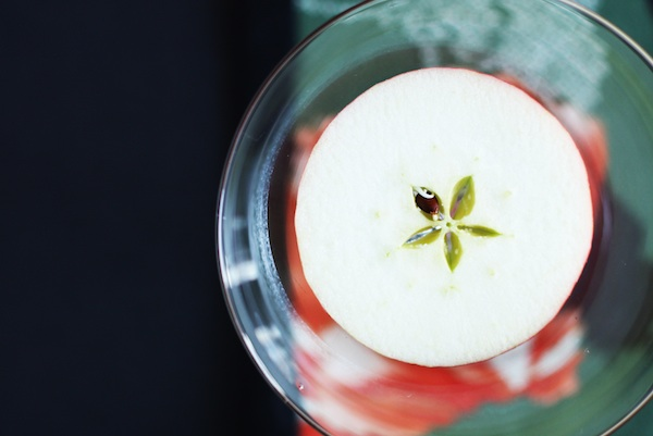 Green Tea Apple Martini Garnish