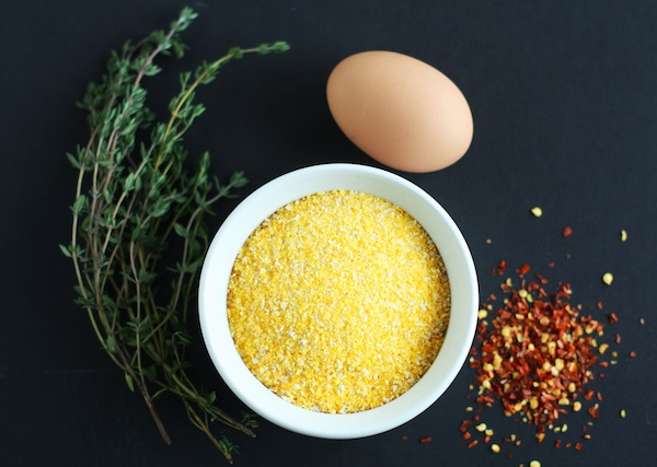 Polenta, Thyme, Red Pepper Flakes, Egg