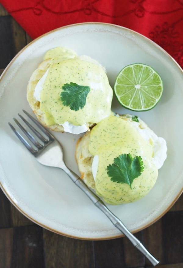 Eggs Benedict & Cilantro-Lime Hollandaise