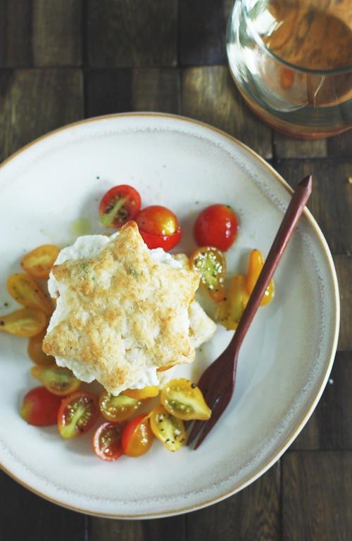Tomato & Goat Cheese Shortcake