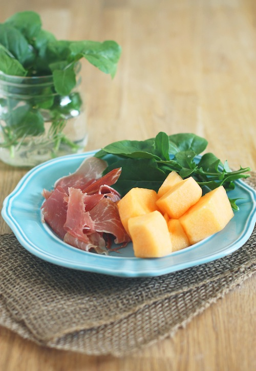 Melon, Prosciutto, Arugula