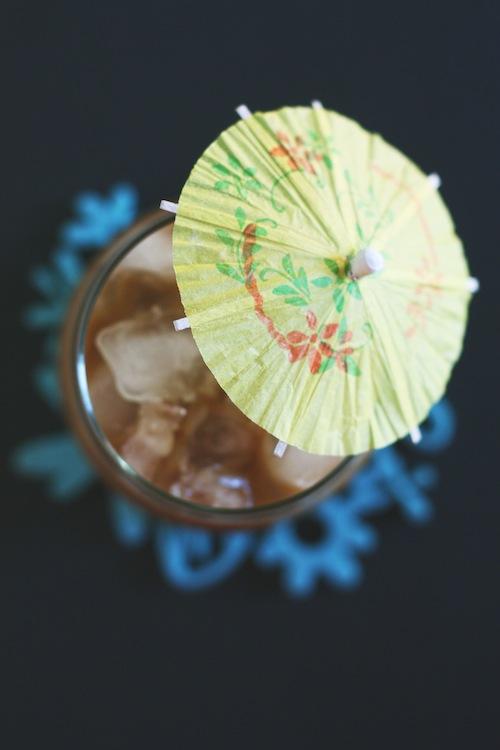 Thai Iced Coffee with Umbrella