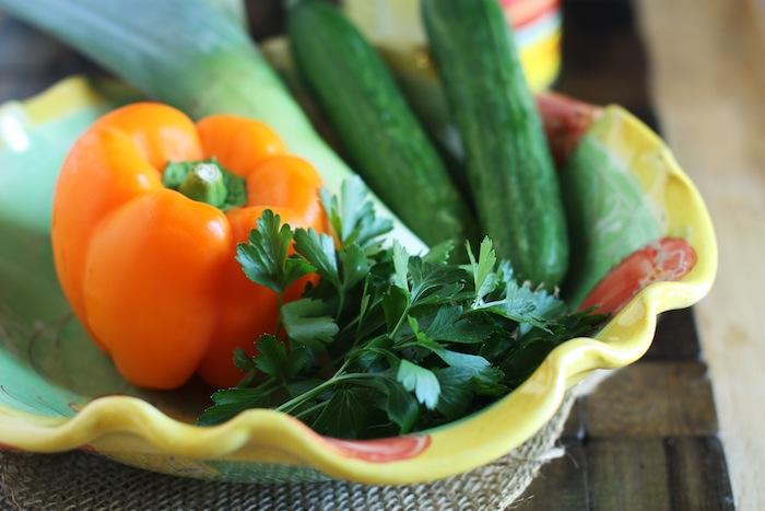 Veggies for Gazpacho