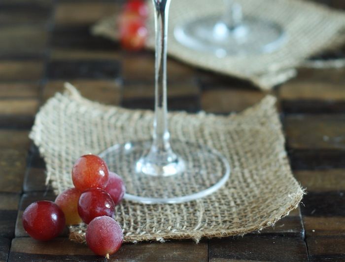 Frozen Grape Garnish