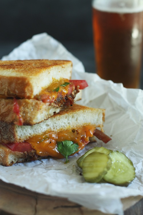 Grilled Cheese with Heirloom Tomato & Bacon Jam