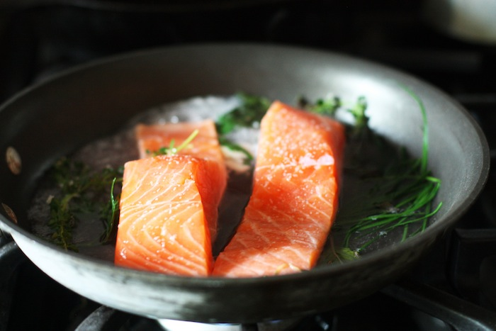 Simple Poached Salmon Recipe — Set the Table