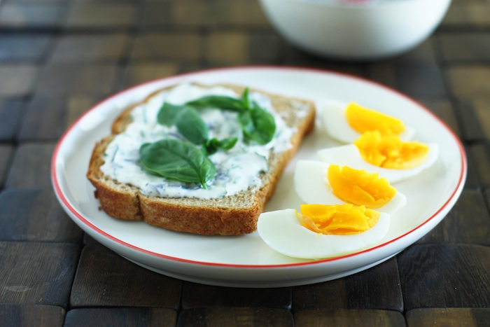 Tartine with Hard Boiled Eggs & Herb Mayonnaise