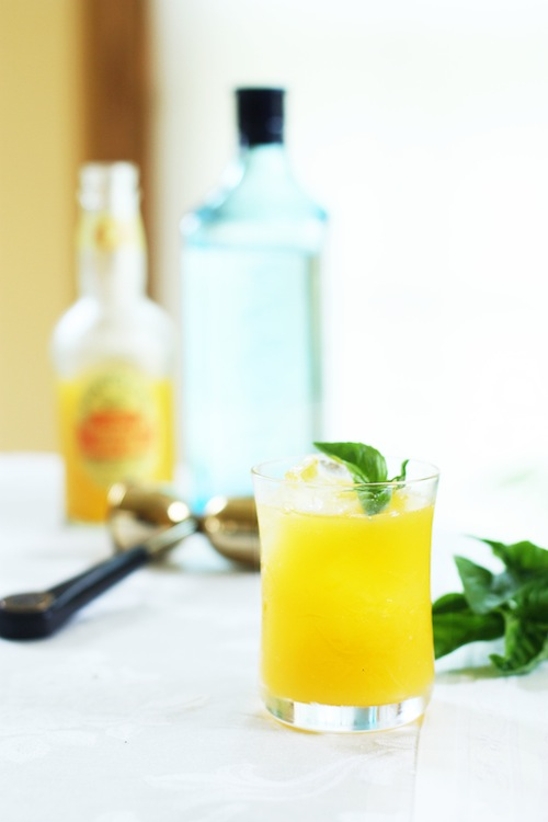orange-basil cocktail